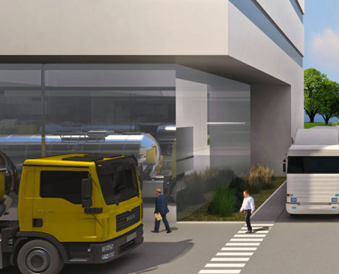 Pina Center: business and logistics